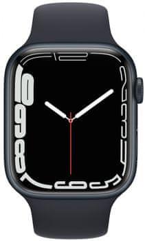 Chytré hodinky Apple Watch Series 7 Cellular pro běhání EKG sledování tepu srdeční činnost monitorování aktivity notifikace online platby Apple Pay tréninkové programy přehrávání hudby notifikace volání