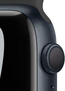 Chytré hodinky Apple Watch Series 7 Cellular tísňové volání detekce pohybu a automatické přivolání pomoci