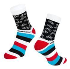 Force Cyklistické ponožky Cycle - bílá/modrá/červená
