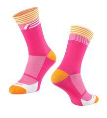 Force Cyklistické ponožky STREAK - růžová/oranžová