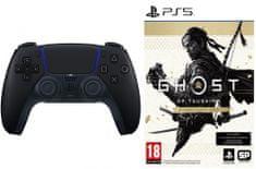 Sony PlayStation 5 Dual Sense Midnight Black + Ghost of Tsushima - Director's Cut